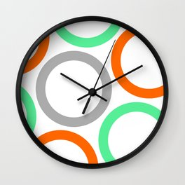 Colour Hoops 02 Wall Clock