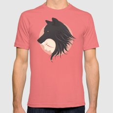 Boy Cries Wolf Pomegranate MEDIUM Mens Fitted Tee