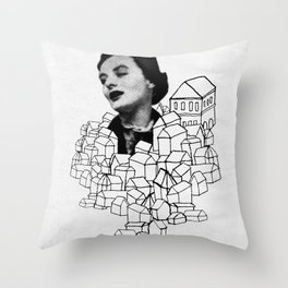 Homes On Parade Throw Pillow