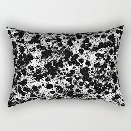 Peppered - Abstract, black and white paint splats Rectangular Pillow