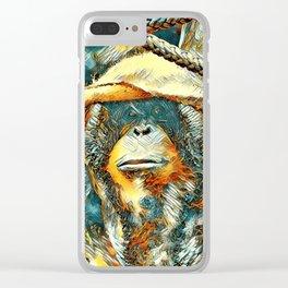 AnimalArt_OrangUtan_20170903_by_JAMColorsSpecial Clear iPhone Case