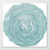 tree rings Canvas Prints featuring Tree Rings by Miami and Ema