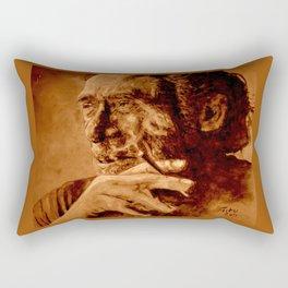 Charles Bukowski - quote - sepia Rectangular Pillow