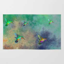 Secret Escape Hummingbird Design Rug