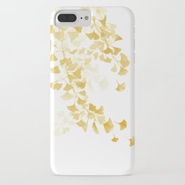 Yellow Ginkgo Leaves Watercolor Painting iPhone Case