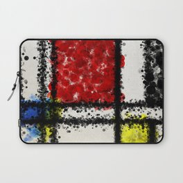 Mondrian with a twist Laptop Sleeve