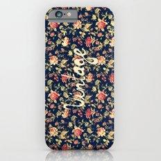 Vintage Elegant Pink and Red Roses Floral Pattern Slim Case iPhone 6s