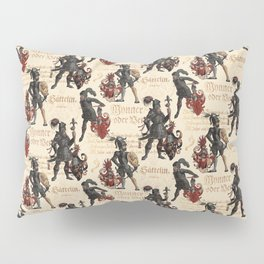 Medieval Knights in Shining Armor Pillow Sham