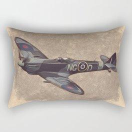 Spitfire - WWII Fighter Rectangular Pillow