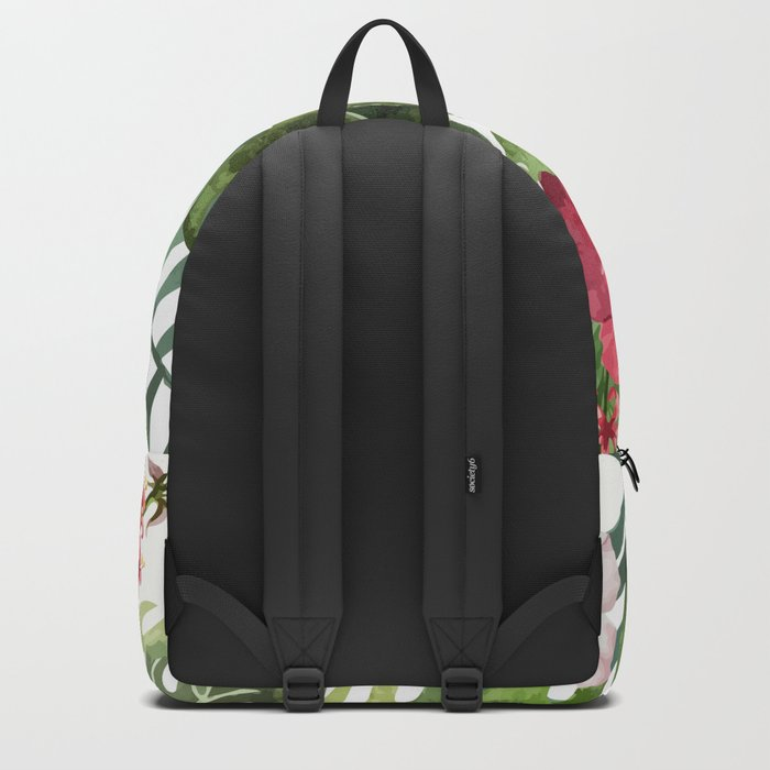Tropical Floral Pattern 02 Backpack