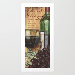 Red Wine and Cheese Panel 1 Art Print