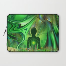 Heart Chakra Energy. Laptop Sleeve