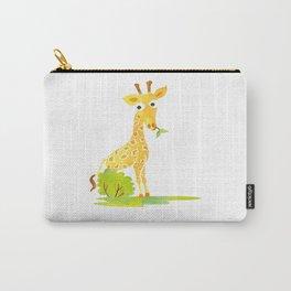 Baby Animal Watercolor Giraffe Adorable Nursery Carry-All Pouch