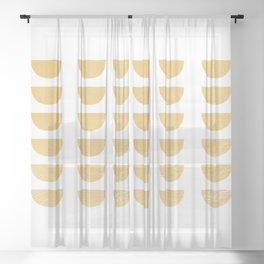 Lena Gold Half Moon Abstract Sheer Curtain
