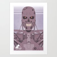 terminator Art Prints featuring Terminator  by avoid peril
