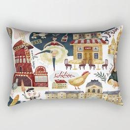 Paris map Rectangular Pillow