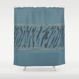 Blueprint and Animal texture 4 Shower Curtain