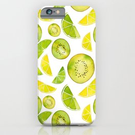 Lemon Lime Kiwi Pattern iPhone Case
