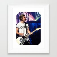 niall Framed Art Prints featuring Niall by clevernessofyou