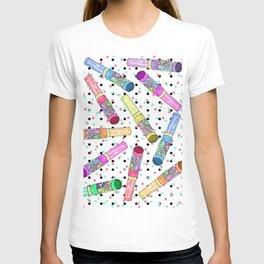 Retro 80's 90's Neon Colorful Push Candy Pop T-shirt