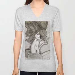 ef off girl Unisex V-Neck