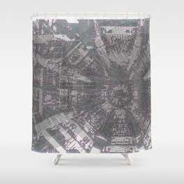 CERN: The Large Hadron Collider: A Love Story Shower Curtain
