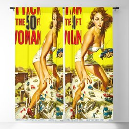 Attack of the 50 Foot Woman, 1958 (Enhanced Colors) Blackout Curtain