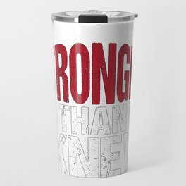 Stronger than I Knew Concussion Awareness Day Travel Mug