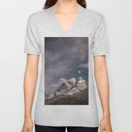 Space and earth collide Unisex V-Neck