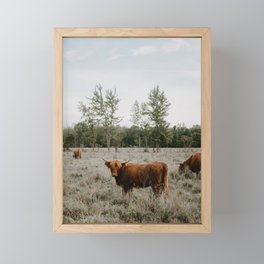 The Furry Cow Framed Mini Art Print