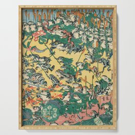 Fashionable Battle of Frogs by Kawanabe Kyosai, 1864 Serving Tray