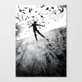 Birds in the head Canvas Print