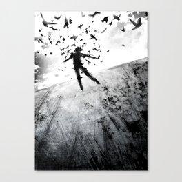 Birds in the head Canvas Print
