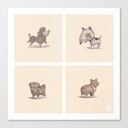 Domestic Animal-1-Puppies Canvas Print