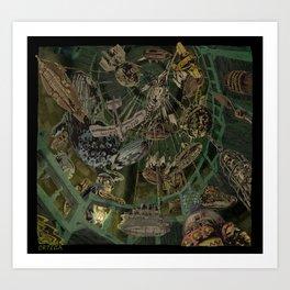 Skeleton Key Lighthouse 03. Treasures from the Briny Deep 02 Art Print