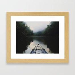 Kayaking the Jacks Fork River Framed Art Print