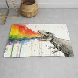T-Rex Rainbow Puke Rug