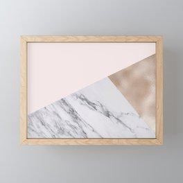 Rosy layers Framed Mini Art Print
