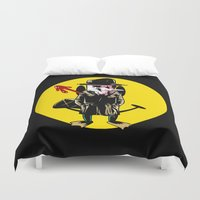 platypus Duvet Covers featuring Who watches the platypus by unknowndesigner