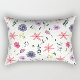 Abstract coral purple violet vector floral pattern Rectangular Pillow