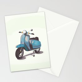 Vintage Scooter Stationery Cards