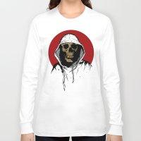 returns Long Sleeve T-shirts featuring Skullboy Returns by Matthew Dunn