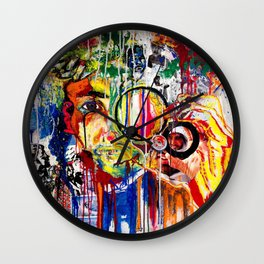 The Man Who Looked Through the Looking Glass and Saw Himself Wall Clock