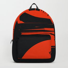 fisherman silhouette Backpack