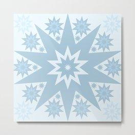 Blue Star Light Metal Print