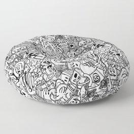 Space Doodles Floor Pillow