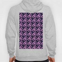 Diagonal squares in pink and purple colours Hoody