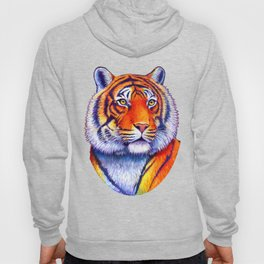 Colorful Bengal Tiger Portrait Hoody