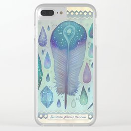 Specimens of glacial lands Clear iPhone Case