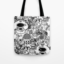 Dark Matter Space Machine Tote Bag